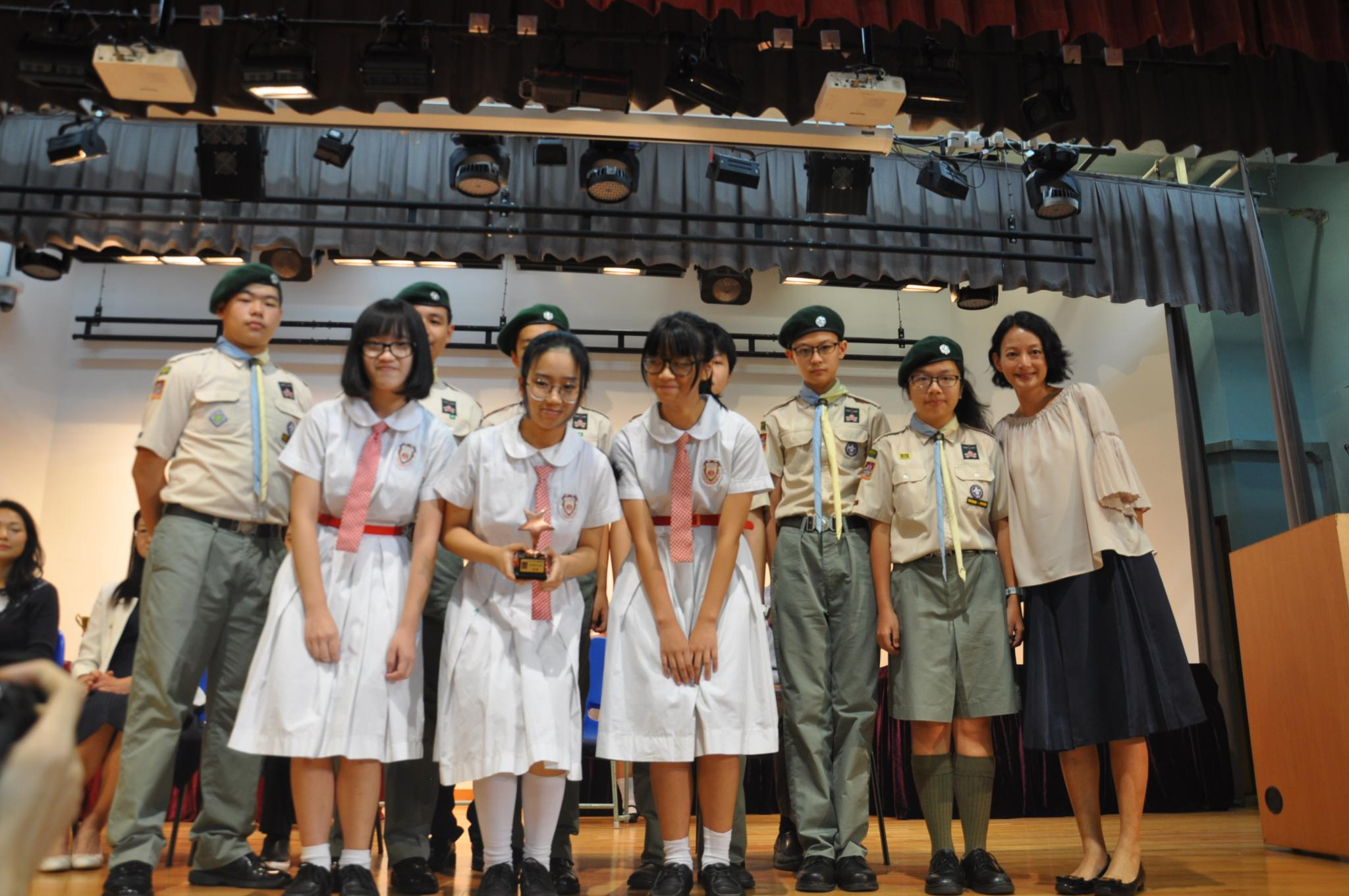 Our Vice Principal, Miss Siu Pui Yin presented the ECA prizes to our students.