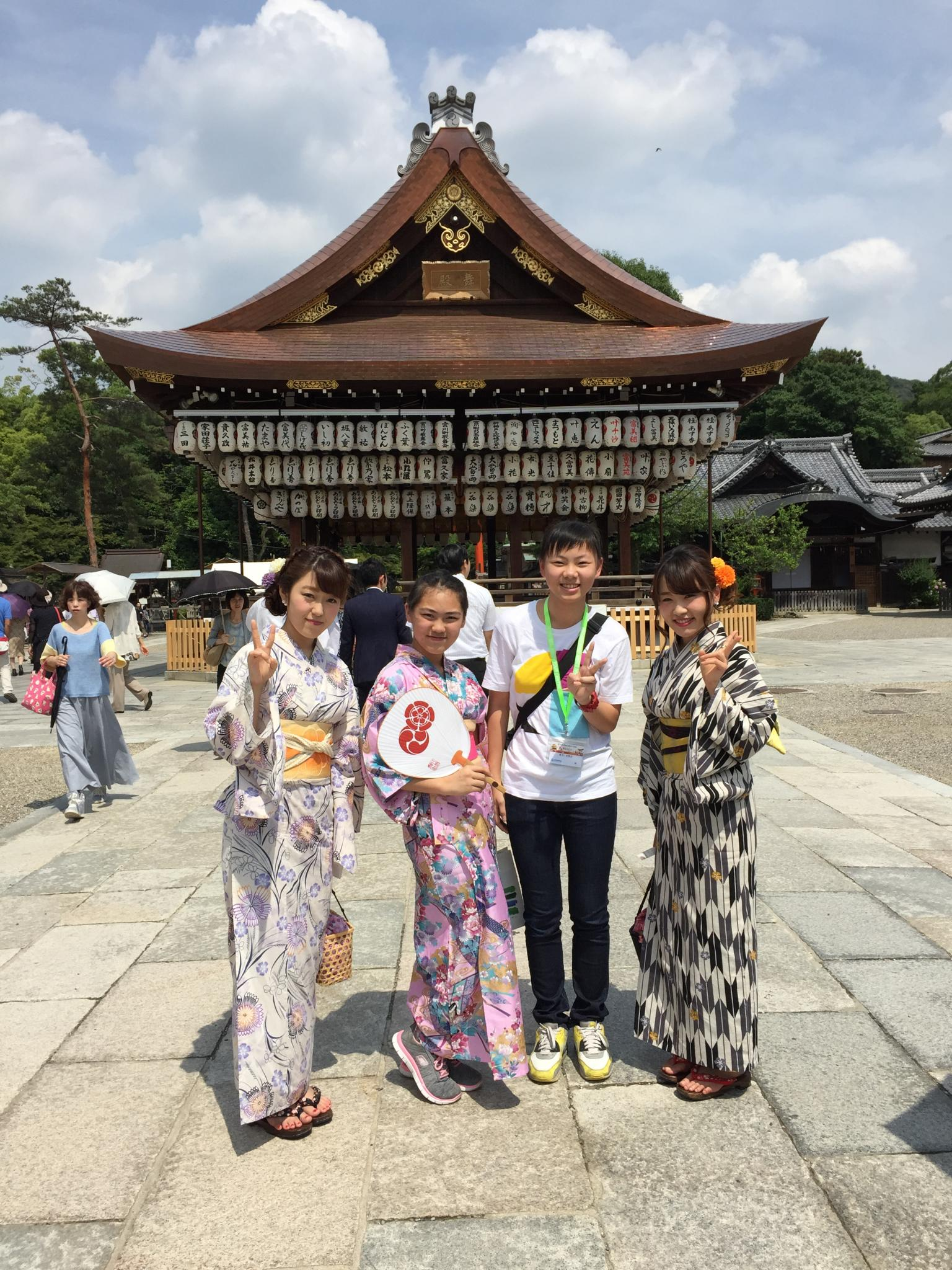 Can you identify our students and the Japanese ladies?