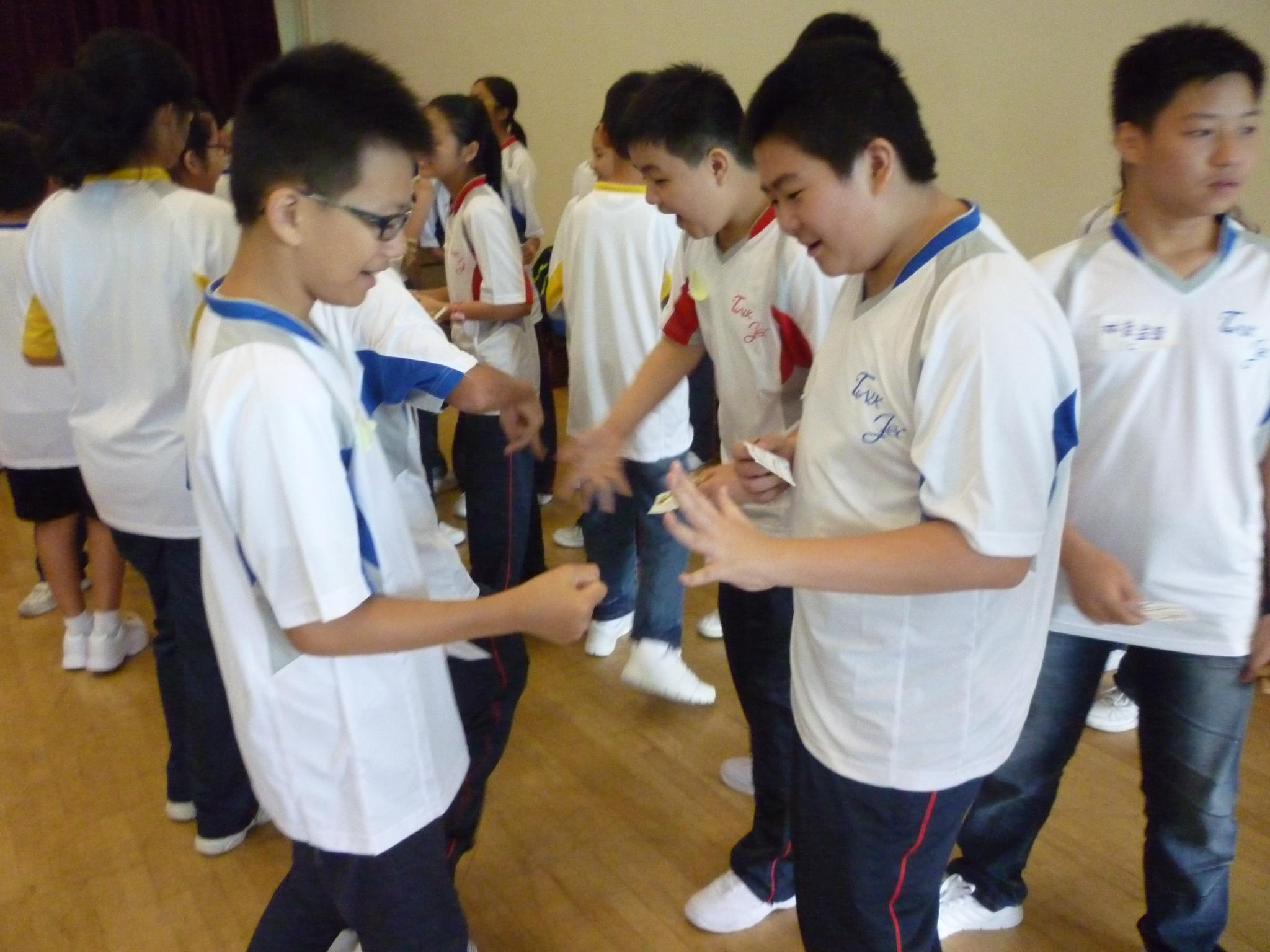 Students are participating in the activities enthusiastically.