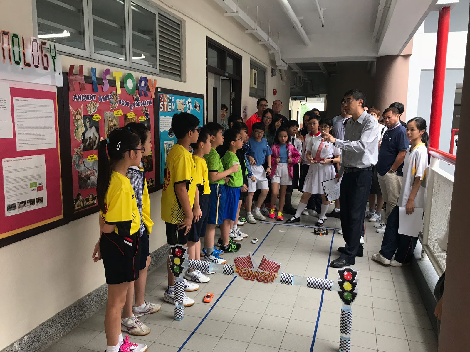6 primary schools joined Motorcar Racing Competition on 28/4/2018.