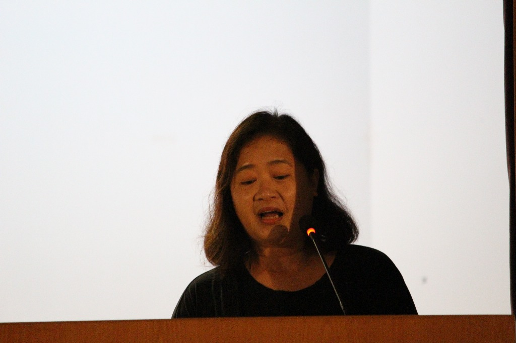The PTA chairlady Mrs. Michelle Chiu delivered a speech.