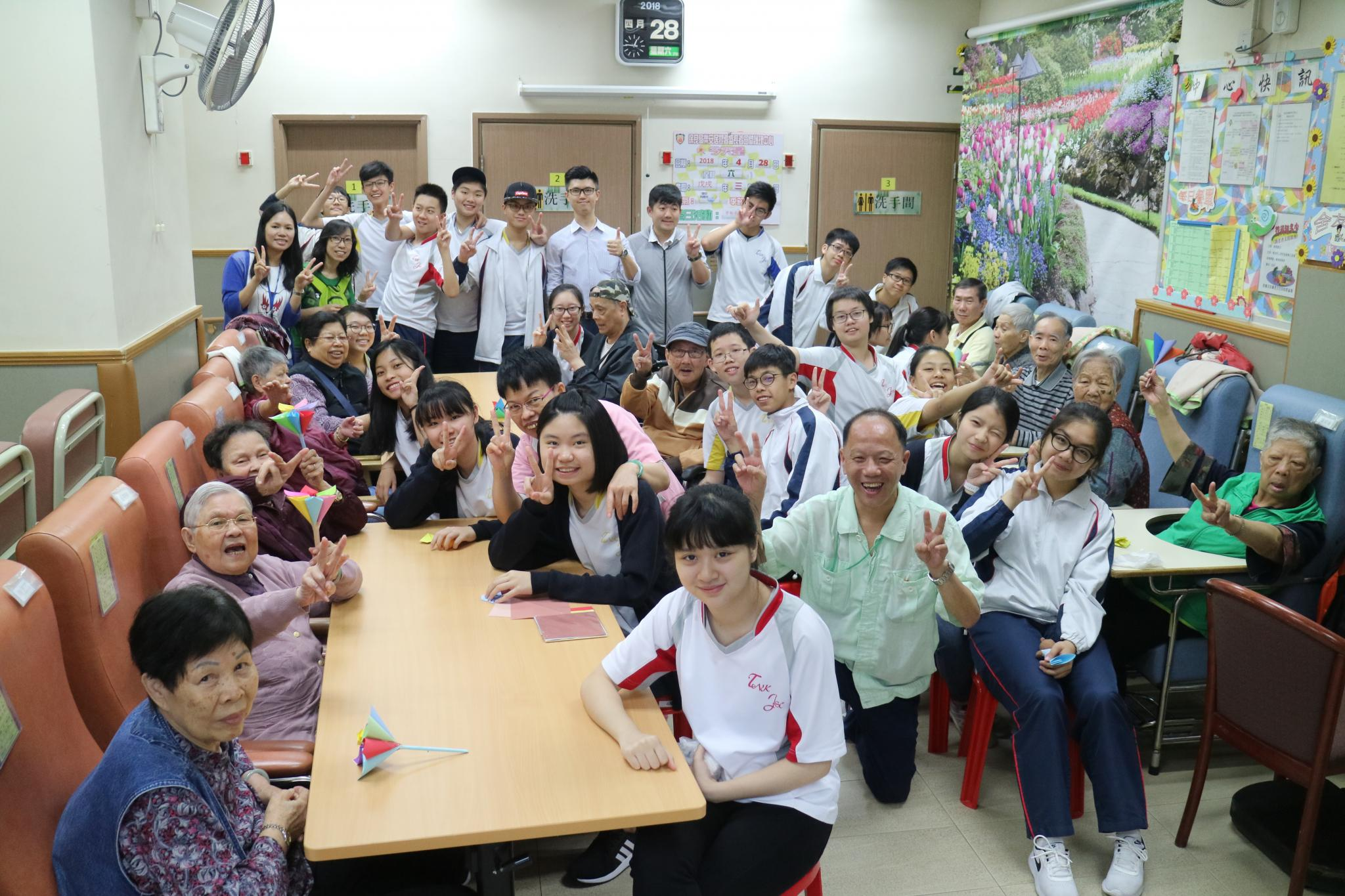 Our students brought happiness to the elderly.