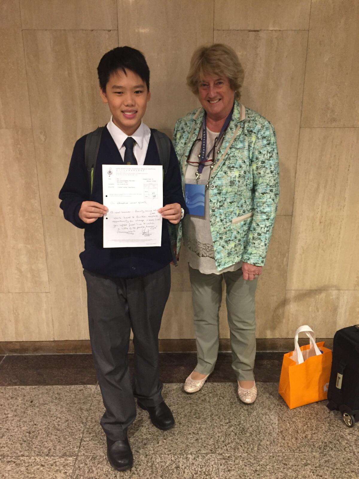 1C Chiu Jordan Ho Chi got the 3rd place in the 69th Speech Festival (Solo Verse, Boys).