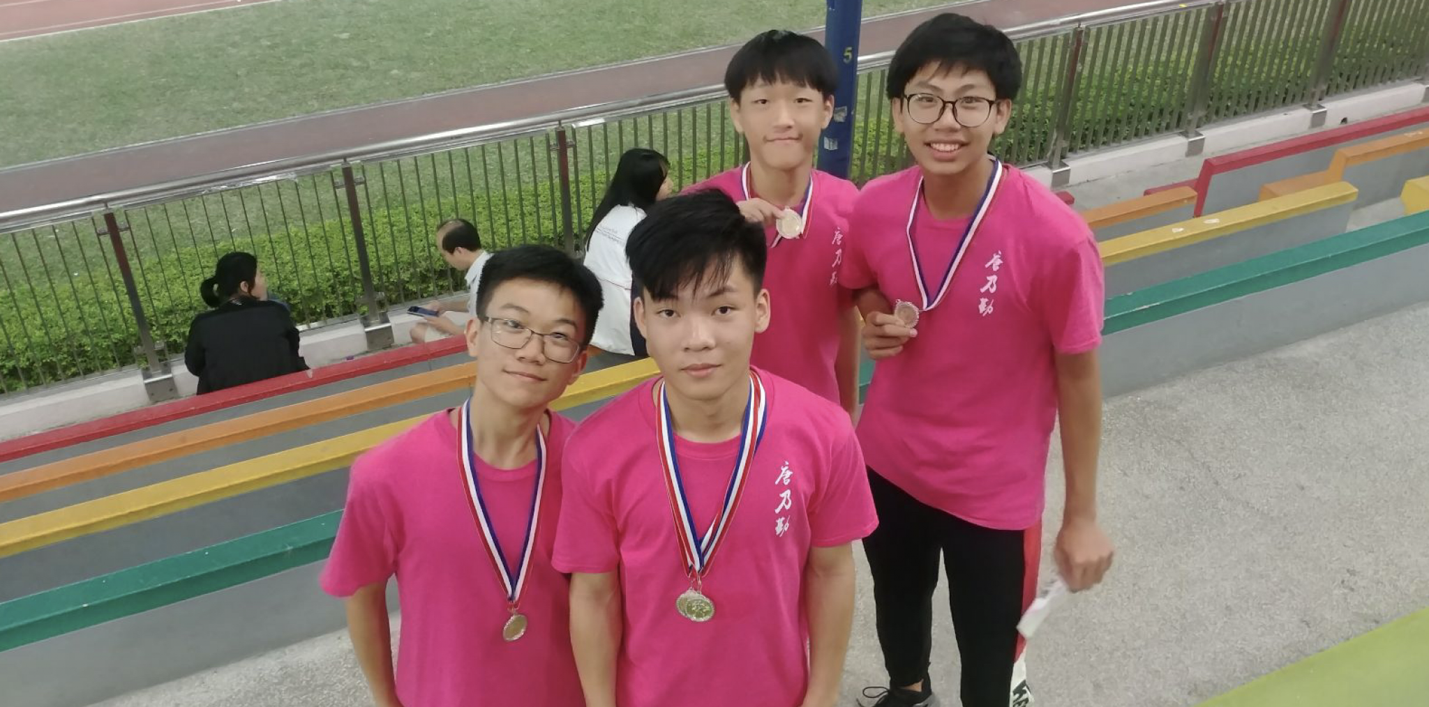 First Runners-up in 4x100m Relay