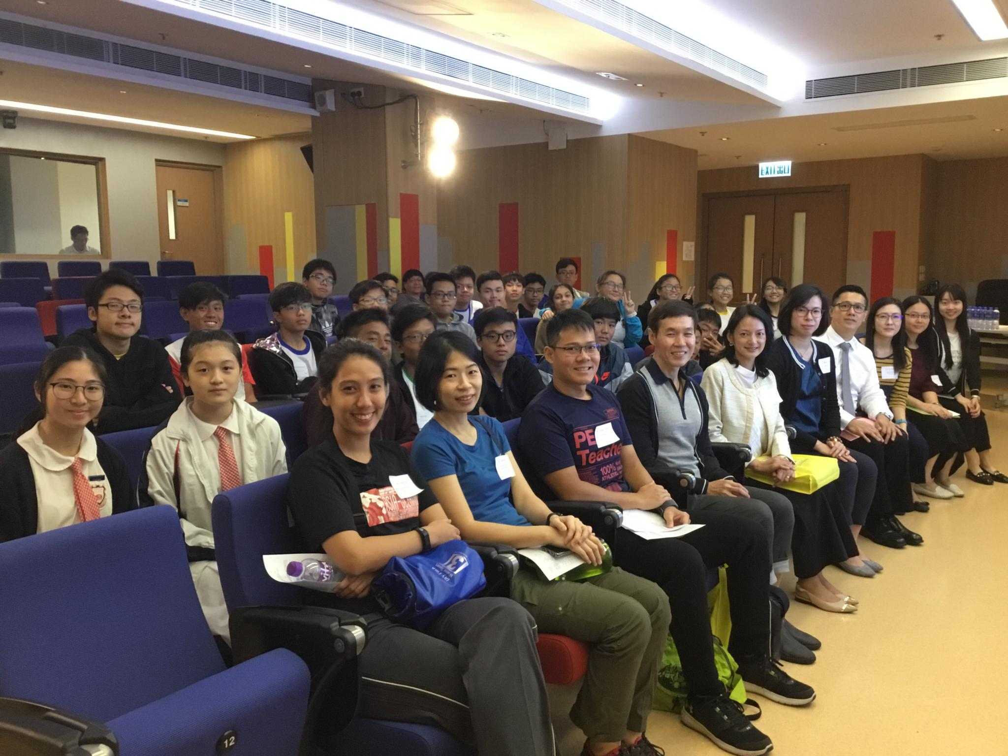 A group photo was taken inside Irene Yu Lecture Theatre.