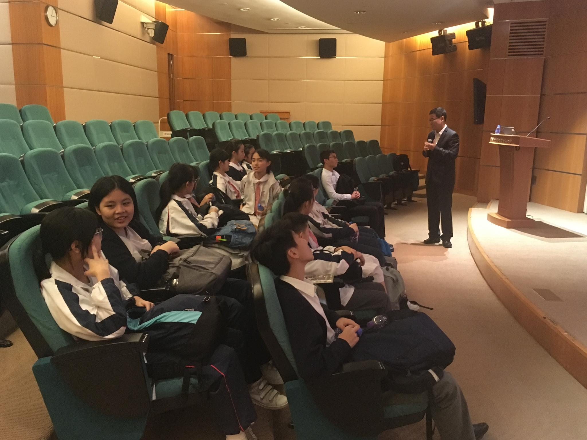 Students were very concentrated on the talk about 'The Belt and Road Initiative' and the future of Hong Kong.