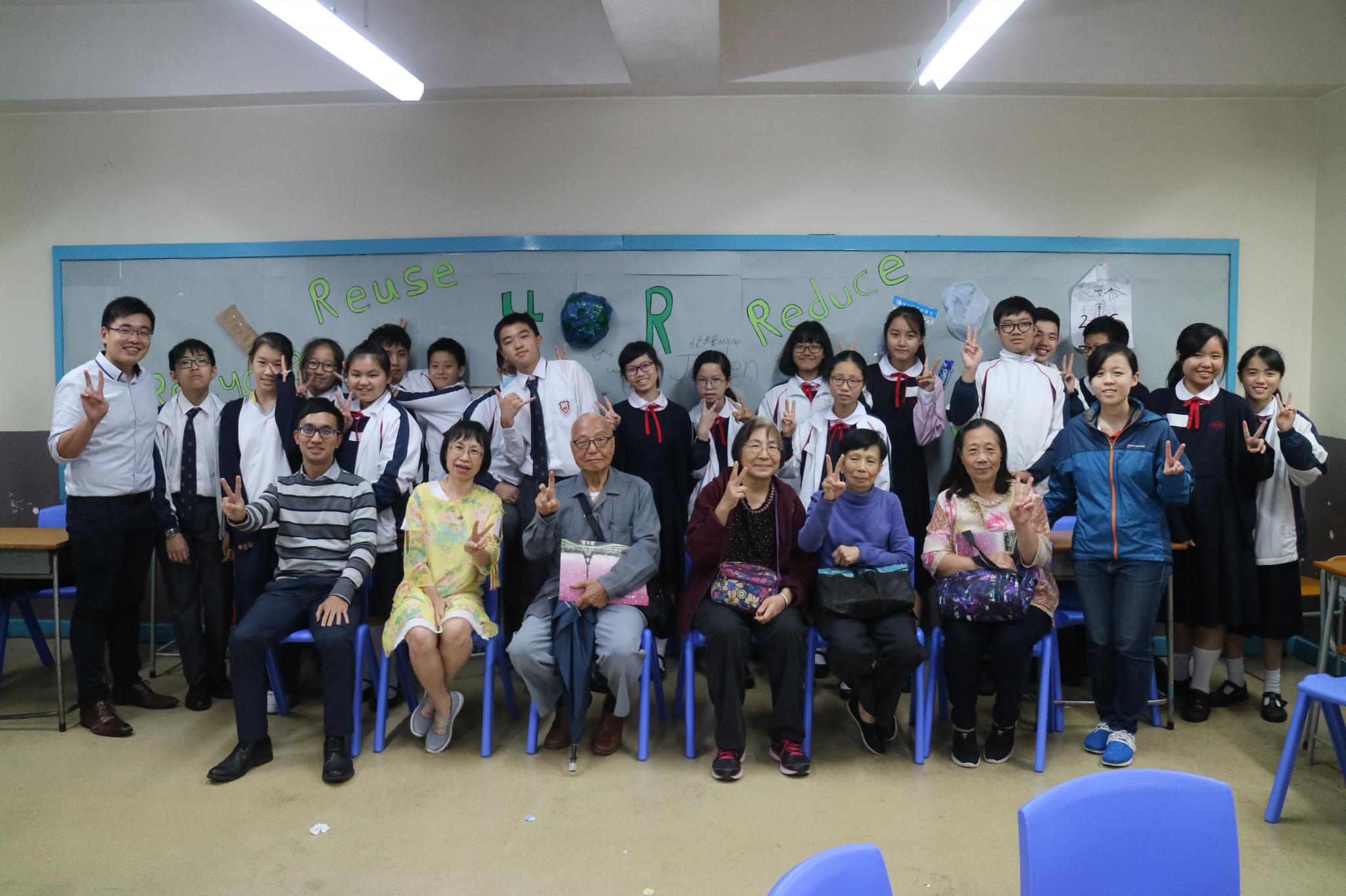The students and the elderly enjoyed the programme.