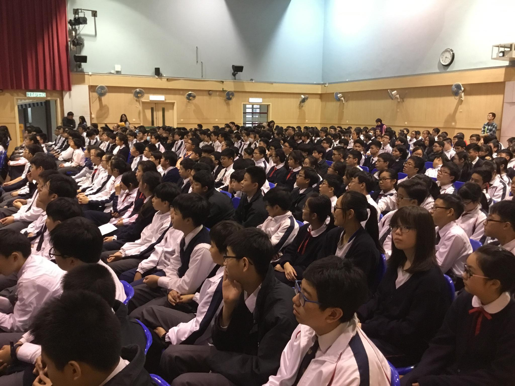 The whole school students needed to attend the talk to get equipped with more knowledge about environmental protection.
