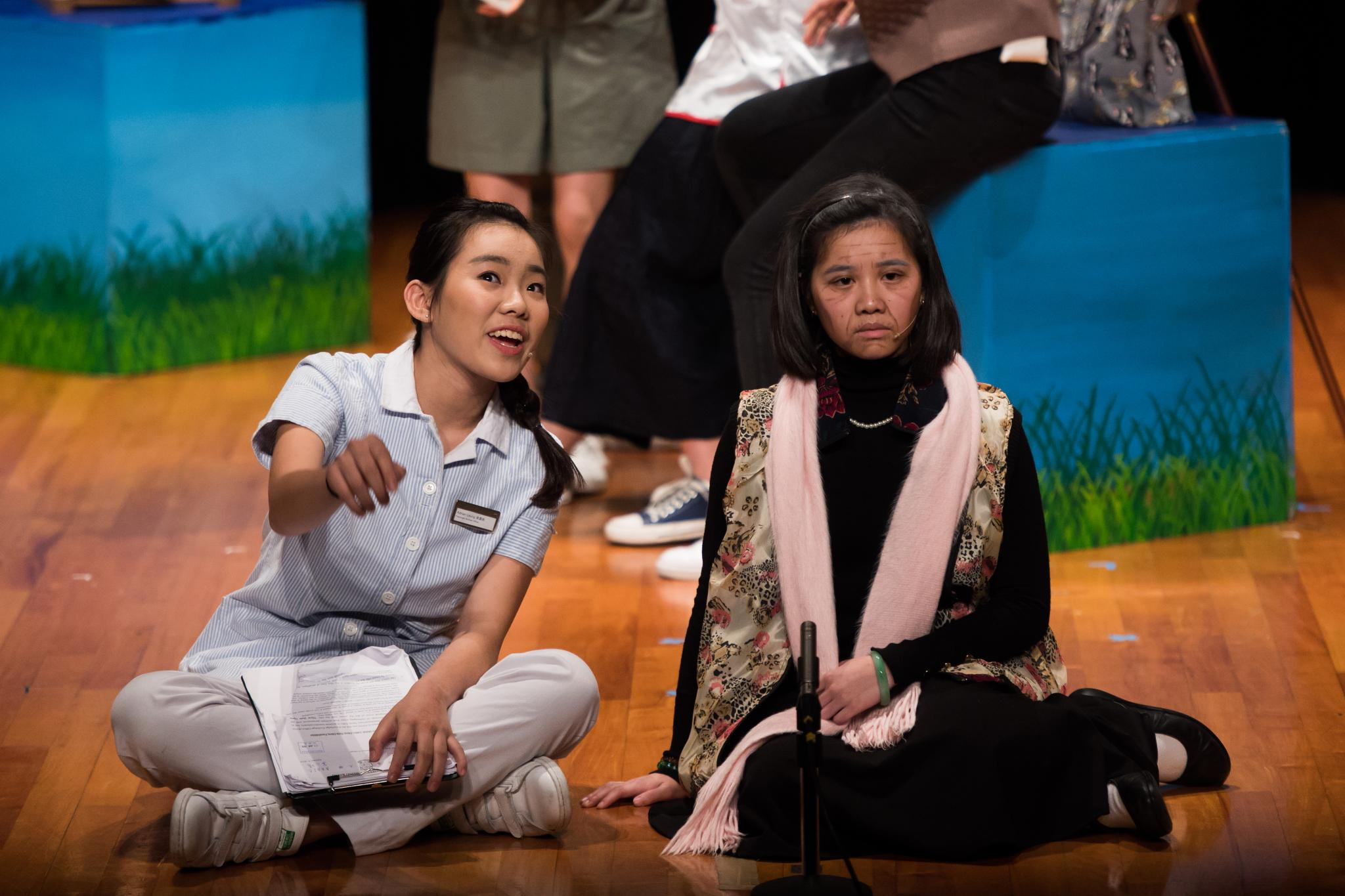 Our Drama Team had great performances on conveying positive messages of cross-generation harmony.