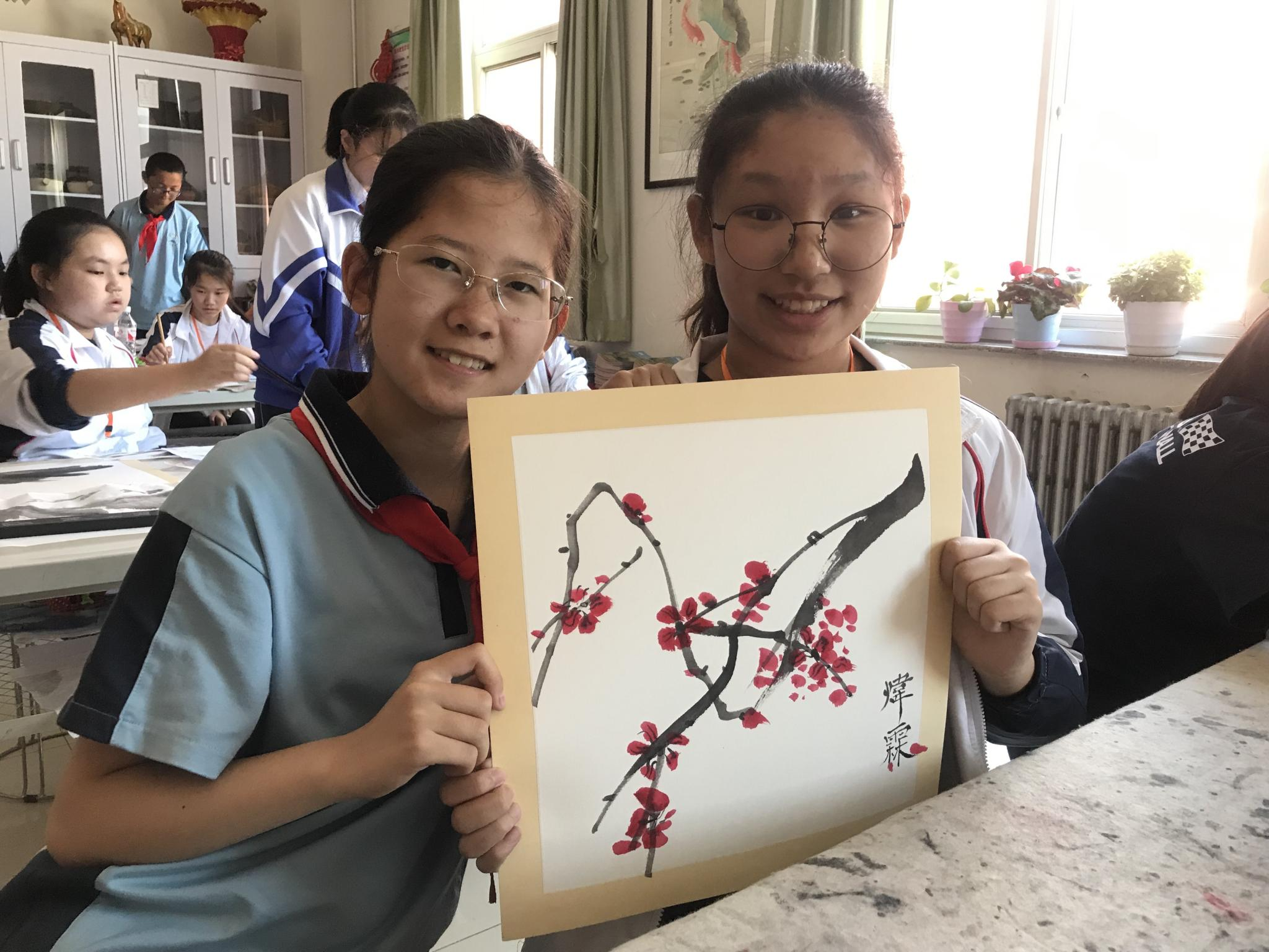 We learned Art together. Is my drawing wonderful?