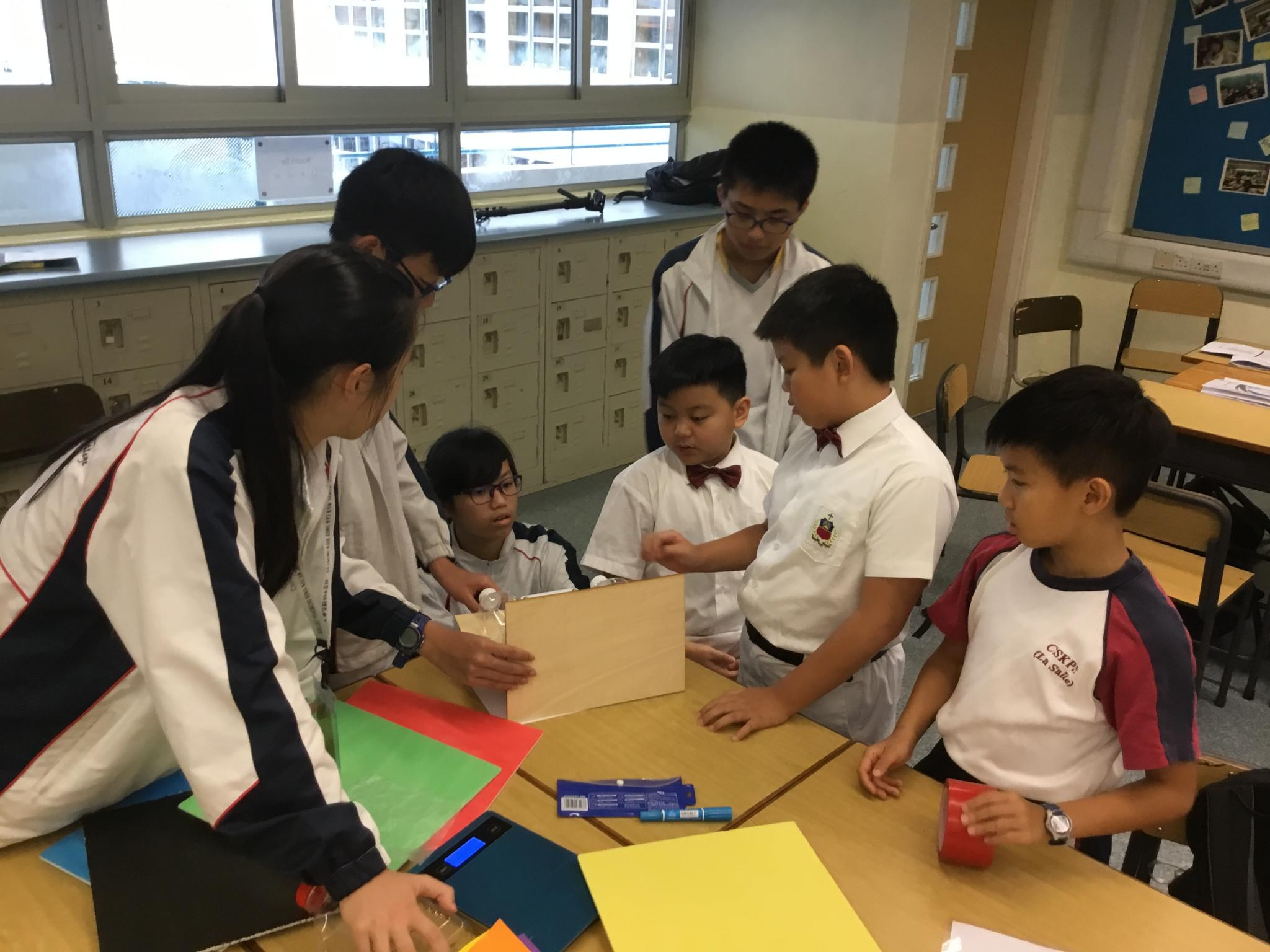 Participants from our school are cooperating with participants from Chan Sui Ki (La Salle) Primary School.