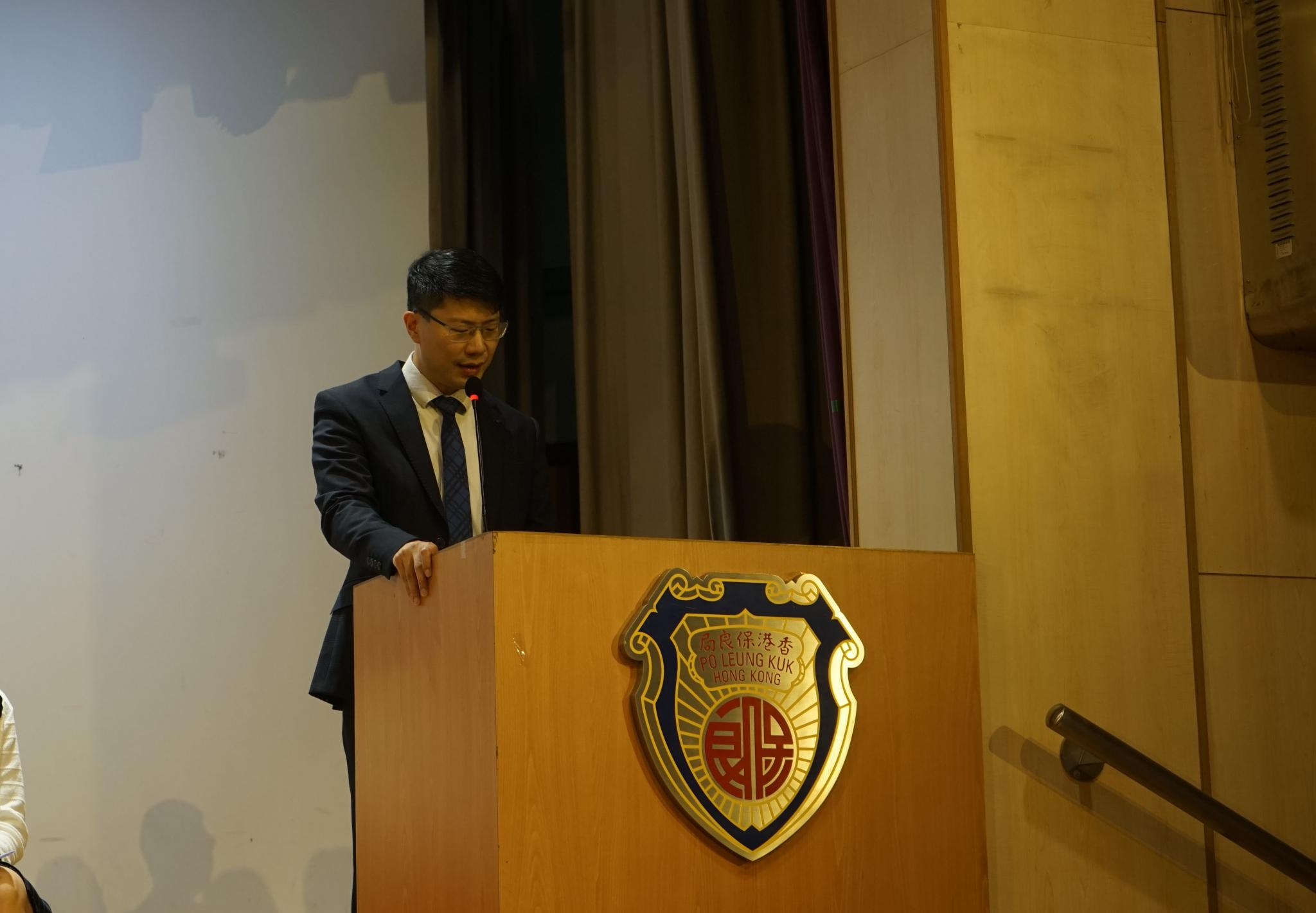 Our school Principal, Mr. Wong Chung Ki, delivered a welcoming address at the opening ceremony.