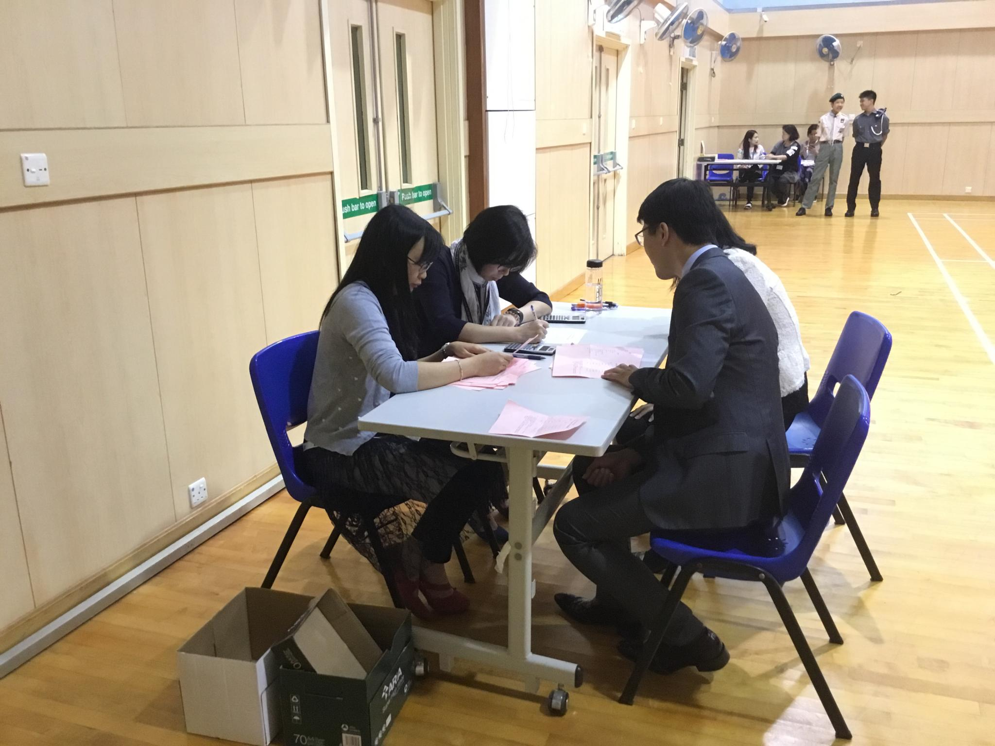 The Principal and the PTA President monitored the process of counting of votes for new parent committees of the PTA of the coming year.