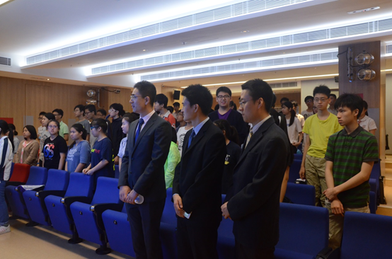 We are very honored to have 3 representatives, Mr. Wang, Mr. Shao and Mr. Liu from the Commissioner's Office of China's Foreign Ministry in the Hong Kong S.A.R. to deliver the talk.