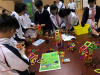 F3 students were trying to assemble the pieces together with the correct shapes.