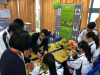 Some of our students helped the other students to assemble the figure in the Maker Faire.